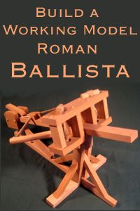 Scale Working Model Roman Ballista Catapult Woodworking Plans and Instructions Step by Step Easy to Build Ancient Crew Served Torsion Weapon Woodworking Skills, Woodworking Plans, Woodworking Projects, Popular Woodworking, Woodworking Furniture, Crossbow, Wood Toys, Wood Furniture, Wood Projects