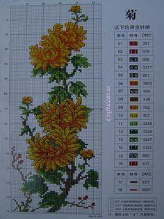 cross stitch Chrysanthemum