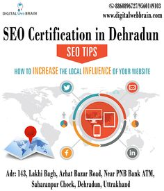 Learn Search Engine Optimization from Leading SEO Training Institute of Dehradun. Digital Web Brain Offering Best SEO Certification in Dehradun. Call Now 886-089-6727 : Visit: http://bit.ly/2yteZwv  #SEOCertificationinDehradun #SEOClassesinDehradun #SEOTraininginDehradun