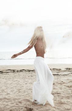 Boho Bride Maxi Skirt. via Rime Arodaky 2013 Bridal / Wedding Style Inspiration / LANE (PS follow us on instagram: the_lane)