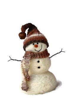 Snowman - Wool Needle Felted Snowmen - Holiday decor - 181. $50.00, via Etsy.