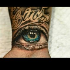 Not a fan of eyeball tattoos but this is intense & amazing work!!