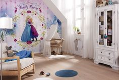 Add a welcome touch of Disney magic with this Frozen wall mural from Komar. Komar Disney murals are in stock at Go Wallpaper UK Wallpaper Uk, Wallpaper Stickers, Disney Wallpaper, Wallpaper Murals, Wall Stickers, Disney Mural, Frozen Kids, Disney Frozen, Tumblr Bedroom