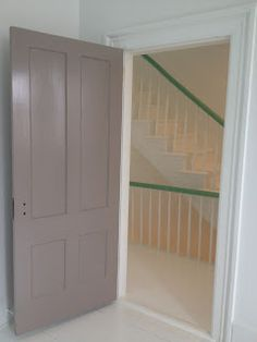 All doors and most trim are Farrow and Ball Charleston Gray