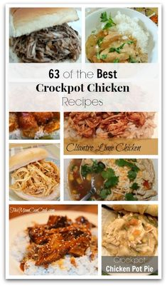 Here is a huge round up of the Best Crock pot Chicken Recipes to try. You will surely find some family favorites in this list.