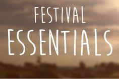 Festival Essentials, We Are Festival, Music Festivals