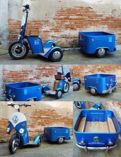 MOVI Volkswagen - Creation of the Spanish Bel & Bel Studio - Volkswagen, Vw T1, E Quad, Vw Rat Rod, Bike Cart, Tricycle Bike, Drift Trike, Bike Trailer, Pedal Cars