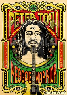 Peter Tosh Reggae Warrior by ~roberlan on deviantART