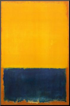 Yellow and Blue Mounted Print by Mark Rothko at AllPosters.com