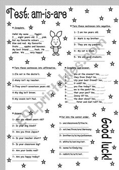 am-is-are - ESL worksheet by soledad_grosso Practice English Grammar, English Grammar Exercises, English Grammar For Kids, English Worksheets For Kids, English Reading, Grammar Lessons, English Vocabulary, Teaching English, Grammar Rules