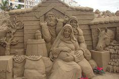 No Room at the Inn Date: 2007 Artist: Busch, Peter Birth Of Jesus, Sand Art, Nashville, Mount Rushmore, Nativity, Lion Sculpture, Christian, Statue, Room