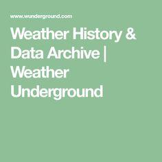 Weather History & Data Archive | Weather Underground