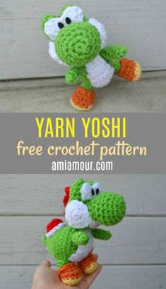 """Free Tamadra Amigurumi Crochet Pattern - the cutest monster from Puzzle and Dragons that will help """"awaken"""" skills in other monsters! Features include an egg shell, pink wings, and a star for it to hold. Mario Crochet, Crochet Bee, Crochet For Boys, Free Crochet, Crochet Dolls, Crochet Classes, Crochet Videos, Crochet Projects, Easter Crochet Patterns"""