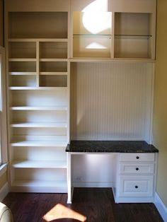 Ideas Craft Room Closet Organization Built Ins For 2019 Closet Desk, Closet Vanity, Closet Office, Kid Closet, Closet Bedroom, Master Closet, Sewing Closet, Vanity Desk, Closet Shelves