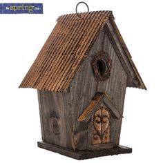 Rustic Birdhouse with Nest Opening