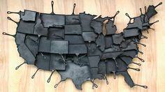 Cast iron skillets shaped like every state in the country by FeLion Studios