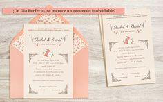 Invitaciones de boda originales y elegantes de azulsahara