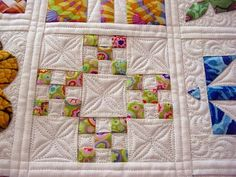 I love this beautiful quilting and using Kaffe Fasset fabrics.   I have been saving these fabrics for something special.  Great Inspiration!