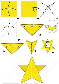 How To Make An Origami Star Instructions From Paper Folding Category Hundreds