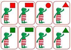 tellen en cijfers Easy Diy Crafts easy diy crafts for christmas Quiet Time Activities, Dinosaur Activities, Preschool Lessons, Preschool Crafts, Kids Crafts, Frog Theme Preschool, Teaching Shapes, Shape Games, I Love School