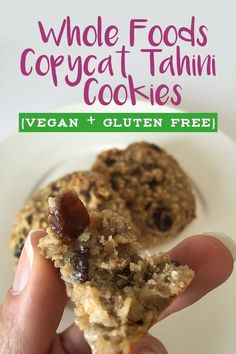 Whole Foods Copycat Tahini Cookie Recipe - dairy free, gluten free dessert that's still ooey gooey and chocolatey