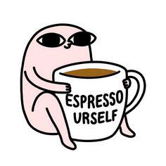 Ideas Funny Illustration Coffee Posts For 2019 Tumblr Funny, Funny Memes, 4 Panel Life, Funny Wallpapers, Cartoon Wallpaper, Funny Comics, Cute Cartoon, Puns, Haha