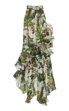 Oasis Town Silk Organza Skirt by Johanna Ortiz Fashion 101, Fashion Beauty, Skirt Fashion, Fashion Dresses, Long Chiffon Skirt, Skirt Patterns Sewing, Dress Drawing, Gala Dresses, Fashion Design Sketches