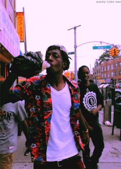 Flatbush Zombies with ghetto coozie