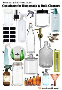 'Smart & Stylish Money Savers: Containers for Homemade & Bulk Cleaners...!' (via Apartment Therapy)
