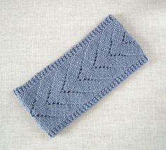 Chevron lace headband knitting pattern on Etsy.