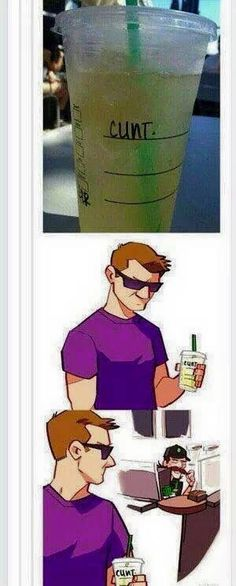 Loki fixes Hawkeye a cup of coffee<<< I give credit to however drew this.
