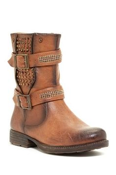 EXTREME By Eddie Marc Trinity Buckled Studded Boot