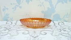 Carnival Glass Oval Bowl Serving Bowl by KitschandCollectable Carnival Glass, Marigold, Kitsch, Flute, Serving Bowls, Decorative Bowls, My Etsy Shop, Unique Jewelry, Handmade Gifts