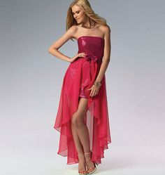 Sew for Prom 2015: Create a high-low hem effect with chiffon, using this McCall's pattern. M6838, Misses' Dress