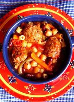 Meatball Minestrone Soup (Crock Pot)