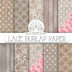 Burlap Lace Digital PaperBurlap Lace Digital by royaldigitalstore, $4.80
