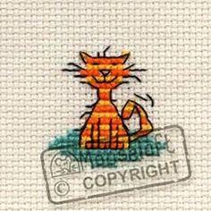 Mouseloft Tiddler Cross Stitch Kit - Contented Cat