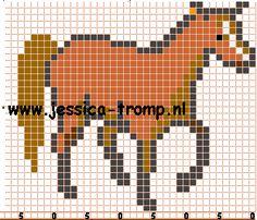 horse hama perler beads