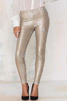 Goldie but Goodie Sequin Leggings - Pants