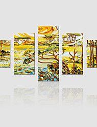 vászon Set Landscape Modern,Öt elem Vászon Függőleges Print Art fali dekoráció For lakberendezési
