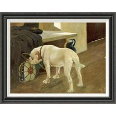 Global Gallery 'Study of a Bulldog' by Arthur Heyer Framed Painting Print Size: