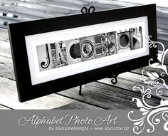 Last name letter art. (I've been telling myself I'd DIY this, but I just don't think it's within my capabilities!)