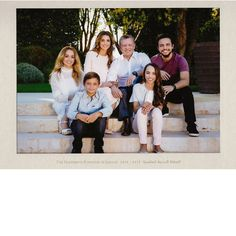 King Abdullah II and Queen Rania of Jordan were joined by their four children - Princess Iman, Prince Hashem, Princess Salma and Crown Prince Hussein - for their 2016-2017 New Year card, which showed the royals dressed down in everyday wear for the sweet family portrait taken on the steps of the palace of Amman