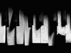 El sonido a través de las teclas de un piano