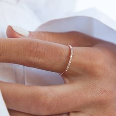 Diamond Wedding Ring in Gold / Diamond Engagement Ring / Wedding Band / Gold Ring with Diamonds / Fine Jewelry / mothers day gift - Fine Jewelry Ideas Thin Wedding Bands, Diamond Wedding Rings, Diamond Bands, Womens Wedding Bands, Diamond Engagement Rings, Solitaire Diamond, Ring Set, Unique Rings, Ring Designs