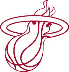 GO HEAT! Miami Heat logo | Miami HEAT Logo * Window Wall STICKER *