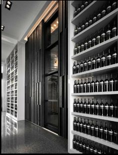 Custom & DIY Minibar Design Inspirations and Ideas for your Mancave Wine Cellar Design, Wine Design, Caves, Door Design, House Design, Home Wine Cellars, Wine Display, Wine Wall, Wine Cabinets