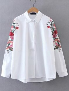 SheIn offers Batwing Sleeve Embroidered Tunic Blouse & more to fit your fashionable needs. Indian Fashion Dresses, Fashion Outfits, Best Fashion Designers, Embroidered Tunic, Tunic Blouse, Batwing Sleeve, Cute Fashion, Fashion Women, Pretty Outfits