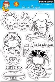 Fun In The Sun - Clear Stamp
