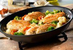 Garlic Chicken, Vegetables & Rice Skillet